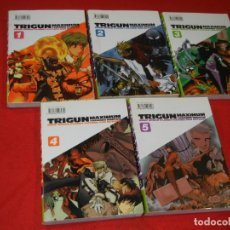 Cómics: TRIGUN MAXIMUM, DE YASUHIRO NIGHTOW - VOLS 1,2,3,4 Y 5 - GLENAT 2005. Lote 180013612