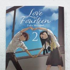 Cómics: LOVE AT FOURTEEN 2 - FUKA MIZUTANI - MILKY WAY / MANGA. Lote 181453042
