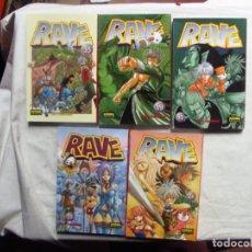Cómics: RAVE HIRO MASHIMA NUMEROS 15 - 19 - 24 - 25 Y 35 NORMA EDITORIAL. Lote 192583617