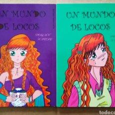 Cómics: LOTE UN MUNDO DE LOCOS: TOMOS 1 Y 2, POR POLAN KAEDE. OBRA COMPLETA. CON DEDICATORIAS DE LA AUTORA.. Lote 196077735