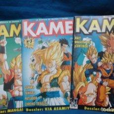 Comics : KAME - REVISTA DE MANGA Nº 1, 3, 6 -. Lote 197517876
