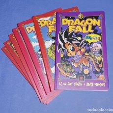 Cómics: COLECCION DE 7 TOMOS DE DRAGON FALL INCLUYE EL Nº 0 PARODIA DE DRAGON BALL EN EXCELENTE ESTADO. Lote 199795797