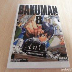 Cómics: BAKUMAN Nº8 (POR TSUGUMI OHBA Y TAKESHI OBATA ) ¡! MANGA - BRAGUITA FLASH SALVADOR. Lote 204548425