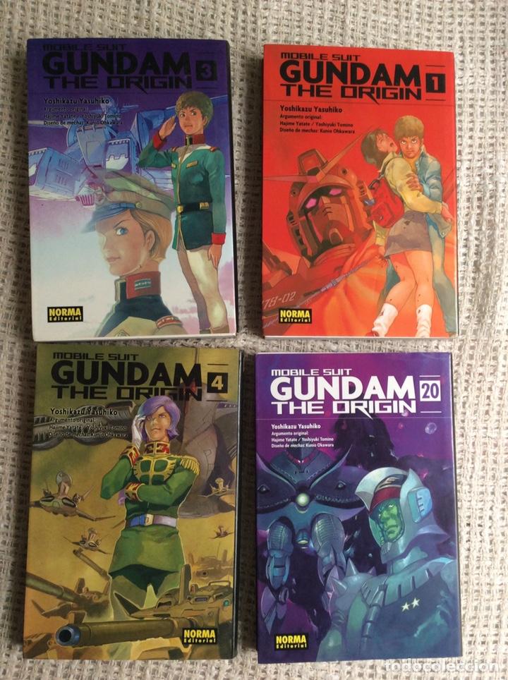 MOBILE SUIT GUNDAM THE ORIGIN LOTE 4 EJEMPLARES YOSHIKAZU YASUHIKO Nº 1, 3, 4, 20 (Tebeos y Comics - Manga)