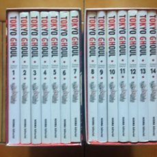 Cómics: TOKYO GHOUL 1 2 3 4 5 6 7 8 9 10 11 12 13 Y 14 COMPLETA CON SUS COFRES - NORMA MANGA. Lote 207124188