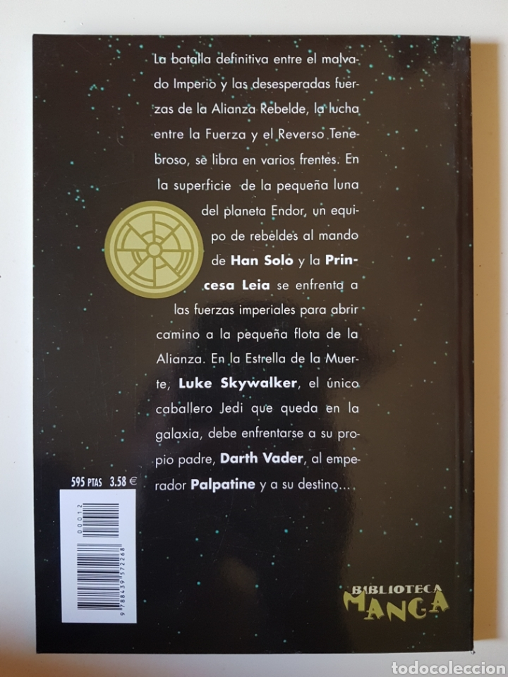 Cómics: STAR WARS BIBLIOTECA MANGA Nº 12 EL RETORNO DEL JEDI - PLANETA DE AGOSTINI COMIC - Foto 2 - 214825575