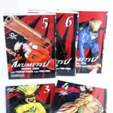 Cómics: AKUMETSU 3 4 5 6 7. LOTE DE 5 (TABATA / YOGO) MANGALINE, 2007. OFRT ANTES 37,5E. Lote 239972735