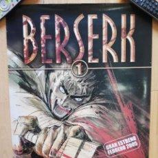 Cómics: POSTER BERSERK KENTARO MIURA 68X48CM. Lote 248088785
