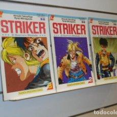 Cómics: STRIKER EL GUERRERO BLINDADO COMPLETA 3 NUMEROS VIZ COMICS - PLANETA. Lote 262615950