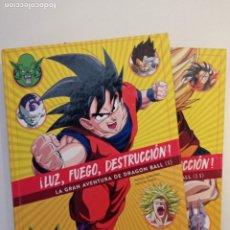 Cómics: ¡LUZ, FUEGO, DESTRUCCIÓN!. LA GRAN AVENTURA DE DRAGON BALL (2 TOMOS). Lote 266097248