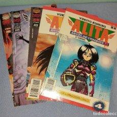 Cómics: 5 EJEMPLARES DE ALITA ANGEL DE COMBATE DE YUKITO KISHIRO PLANTE AGOSTINI MANGA. Lote 268750654