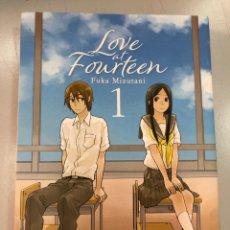 Cómics: MANGA CASTELLANO LOVE AT FOURTEEN 1 FUKA MIZUTANI. Lote 269840948