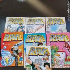 Cómics: LOTE 7 COMICS MANGA RAVE. Lote 287847568