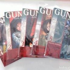 Cómics: MANGA ALITA GUNNM 5 PRIMEROS NÚMEROS TAMAÑO COMIC BOOK. Lote 288504968