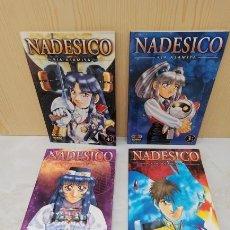 Cómics: NADESICO COLECCIÓN COMPLETA 1 AL 4 - NORMA - ESTADO EXCELENTE. Lote 289734518