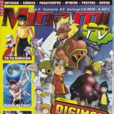 Cómics: REVISTA MINAMI, Nº 43 MANGA Y OCIO. DIGIMON. SIN CD. Lote 295480538