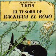 Cómics: TARJETA PUBLICITARIA - TINTIN - EL TESORO DE RACKHAM EL ROJO. Lote 22317036
