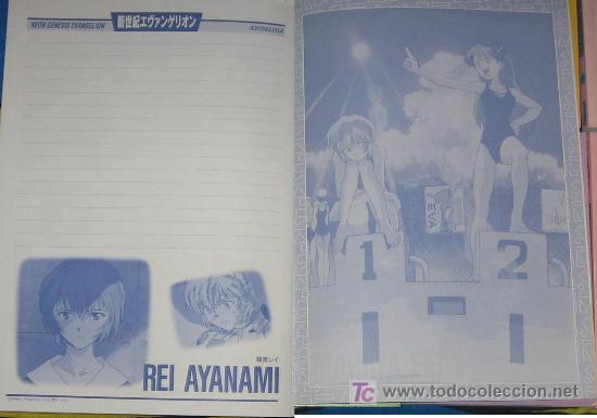 EVANGELION HOJA DE CARTA BY RECORTITOS MANGA ANIME VPA (Tebeos y Comics - Comics Merchandising)