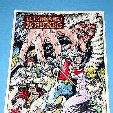 Cómics: EL CORSARIO DE HIERRO Y MÁS PERSONAJES DE LA SERIE. PÓSTER ILUSTRADO POR AMBRÓS. EDICIONES B.. Lote 26214240