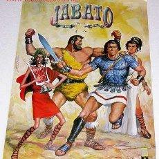 Cómics: EL JABATO Y SUS AMIGOS. POSTER ILUSTRADO POR ANTONIO BERNAL. JABATO, TAURUS, FIDEO Y CLAUDIA.. Lote 26320205