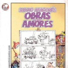 Cómics: POSTAL DE SERGIO ARAGONES. OBRAS SON AMORES. PLANETA DE AGOSTINI.. Lote 15509944