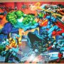 POSTER - PERSONAJES MARVEL CONTRA DC - APROX 68 X 100