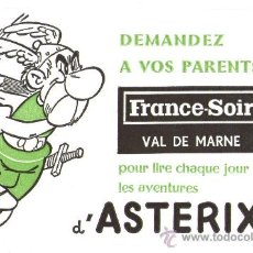 Cómics: RARO PAPEL SECANTE FRANCÉS: CON EL POPULAR PERSONAJE ASTERIX - SIN USAR. Lote 29215573