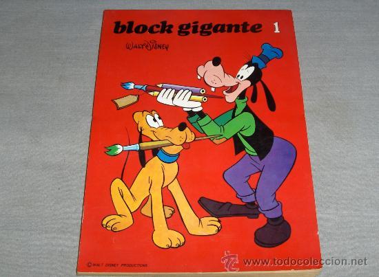ENTRETENIMIENTOS BLOCK GIGANTE Nº 1. SUSAETA 1974. WALT DISNEY. DIFÍCIL!!!!!! (Tebeos y Comics - Comics Merchandising)