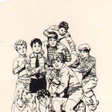 Cómics: TEBEOS-COMICS GOYO - DIBUJO CARTULINA 26X13 - MIGUEL QUESADA - LA PANDILLA DE LOS 7 *BB99. Lote 32911948