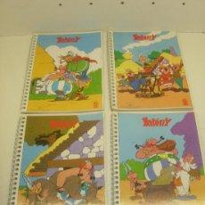 Comics : LOTE 4 LIBRETAS ESCOLARES ASTERIX DE ENRI 1981 NUEVAS. Lote 225609980