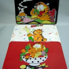 Comics: 3 MANTEL INDIVIDUAL GARFIELD EN PLÁSTICO 1978 UNITED FEATURE SINDICATE. Lote 36284277