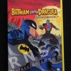 Cómics: DVD BATMAN CONTRA DRÁCULA - PELÍCULA DIBUJOS ANIMADOS PERSONAJE DE CÓMIC CONDE VAMPIRO ACCIÓN EXTRAS. Lote 40649771
