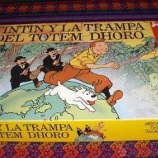 Cómics: TINTIN Y LA TRAMPA DEL TOTEM DHORO. JEUX NATHAN 1992. JUEGO MESA. MUY BUEN ESTADO, COMPLETO Y RARO.. Lote 42278335