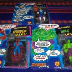 Cómics: SPIDERMAN, LA MASA Y CÍCLOPE TALKS EN BLISTER. MARVEL TOY BIZ. 1991. MUY RAROS.. Lote 42859144