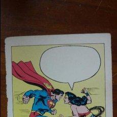 Cómics: POSTAL DC COMICS 1981 SUPERMAN WONDER WOMAN. Lote 43409078