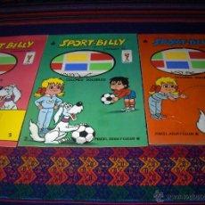 Cómics: SPORT BILLY PINCEL, AGUA Y COLOR NºS 1, 2 Y 5. MASCOTA MUNDIAL 82. ED. ROMA. SIN USO... Lote 45163076