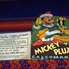 Cómics: MICKEY Y PLUTO CALCOMANÍAS Nº 4. CREACIONES JOR-COS AÑOS 30. WALT DISNEY. CON REGALO. MUY RARAS. . Lote 45594921