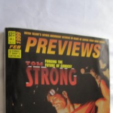 Cómics: PREVIEWS USA FEBRERO 1999. PORTADA TOM STRONG. CATALOGO USA .COMPLETO Y EN BUEN ESTADO.. Lote 46443280