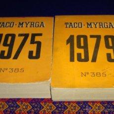Cómics: 2 TACO MYRGA 1975 1979 CON COMICS PERSONAJES BRUGUERA COMO CINE LOCURAS DE FIGUERAS. MUY RAROS!!!!!!. Lote 46796177