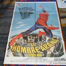 Cómics: CARTEL ORIGINAL CINE SPIDERMAN EL HOMBRE ARAÑA 100X70 CMS. 1978. MUY BUEN ESTADO Y RARO.. Lote 47711962