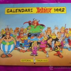 Cómics: CALENDARIO ASTERIX 1992 - TIMUN MAS - UDERZO - EN CATALÀ - SIN USAR JAMAS !!. Lote 49032281