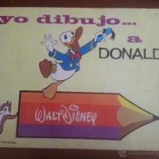 Cómics: CUADERNO YO DIBUJO A... DONALD, WALT DISNEY. Lote 50622587