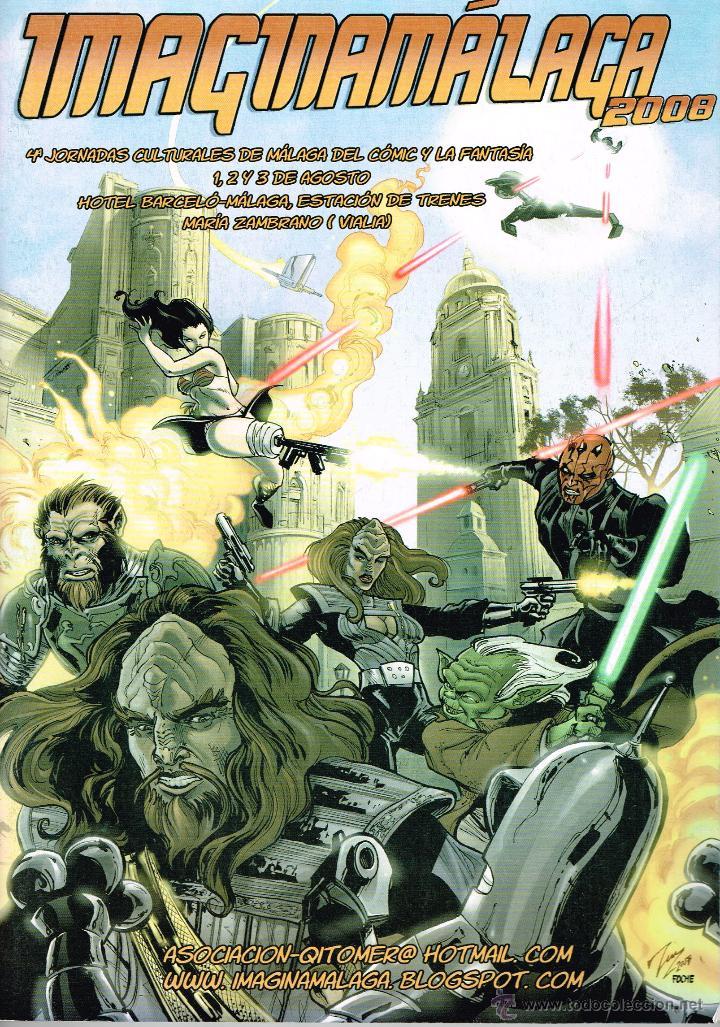 IMAGINAMALAGA 2008.JORNADAS CULTURALES DE MÁLAGA DEL CÓMIC Y LA FANTASÍA. (Tebeos y Comics - Comics Merchandising)