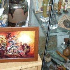 Cómics: TEBEOS-COMICS GOYO - EL CAPITAN TRUENO - LAMINA ENMARCADA *AA99. Lote 53741124