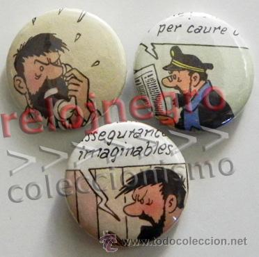 LOTE CHAPITAS CON IMPERDIBLE - CAPITÁN HADDOCK - PERSONAJE DE HERGÉ DE TINTÍN - CHAPA CHAPITA CHAPAS (Tebeos y Comics - Comics Merchandising)