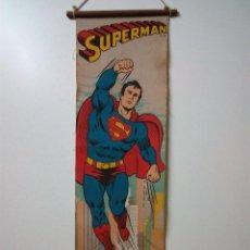Cómics: CARTEL-POSTER EN TELA . SUPERMAN . DC COMICS INC AÑO 1979 . REALIZADO EN TELA PARA COLGAR.. Lote 54631531