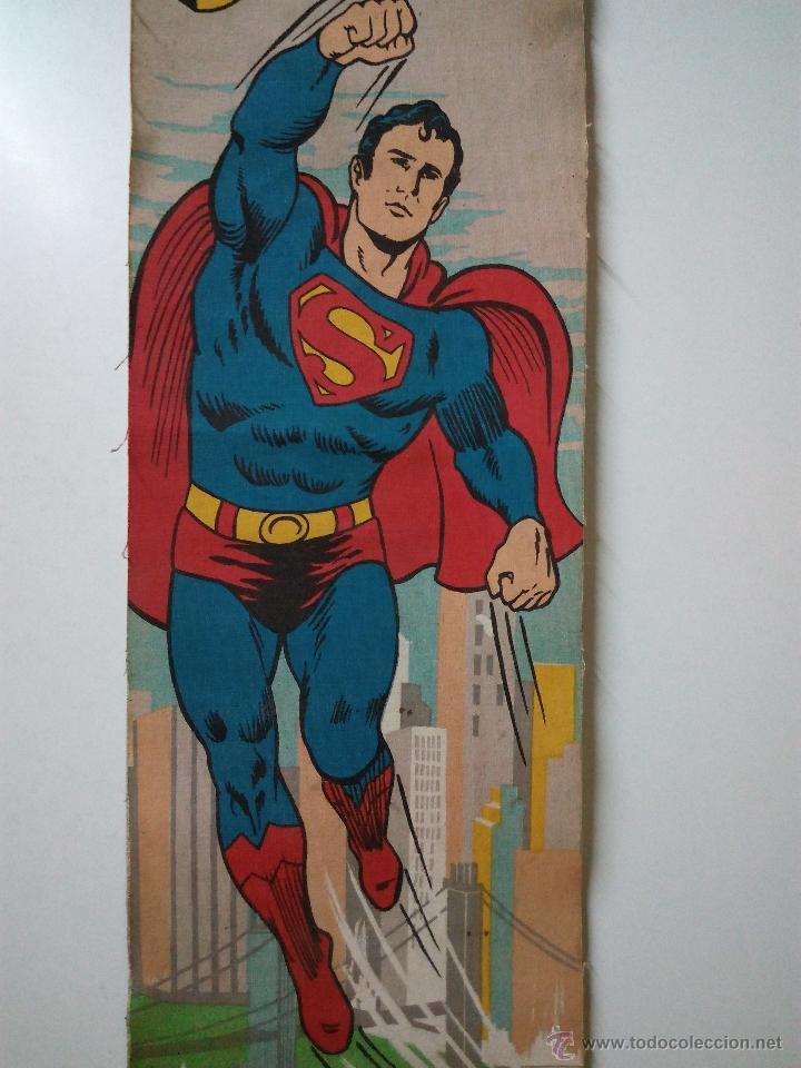 Cómics: CARTEL-POSTER EN TELA . SUPERMAN . DC COMICS INC AÑO 1979 . REALIZADO EN TELA PARA COLGAR. - Foto 3 - 54631531