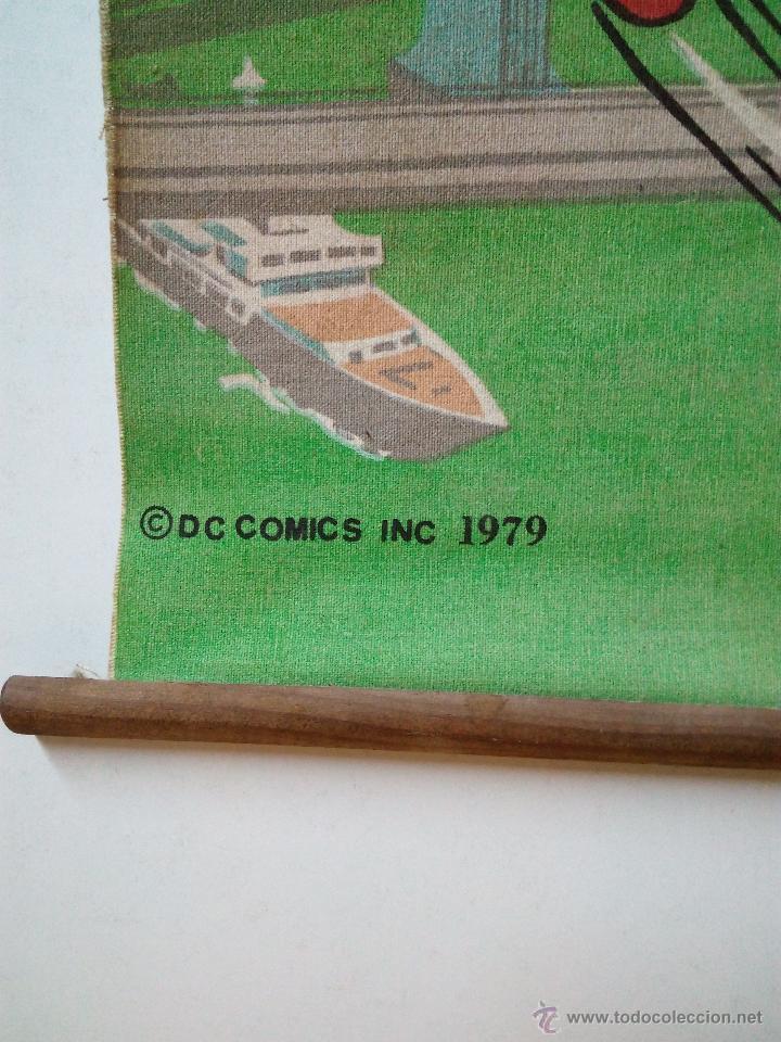 Cómics: CARTEL-POSTER EN TELA . SUPERMAN . DC COMICS INC AÑO 1979 . REALIZADO EN TELA PARA COLGAR. - Foto 4 - 54631531