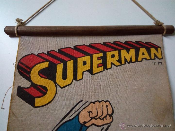 Cómics: CARTEL-POSTER EN TELA . SUPERMAN . DC COMICS INC AÑO 1979 . REALIZADO EN TELA PARA COLGAR. - Foto 5 - 54631531