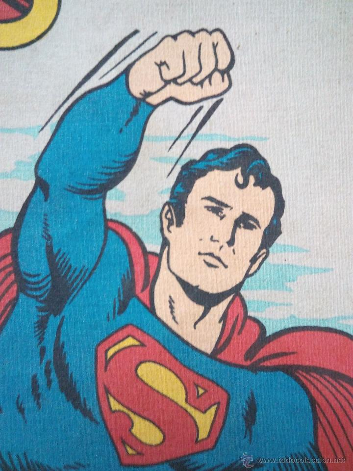 Cómics: CARTEL-POSTER EN TELA . SUPERMAN . DC COMICS INC AÑO 1979 . REALIZADO EN TELA PARA COLGAR. - Foto 6 - 54631531